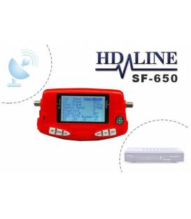 HD-LINE SF-650 Pointeur satellite digital avec batterie - Reglage de parabole