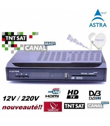 tntsat hd clayton 220v 12v decodeur tnt hdmi usb pvr recepteur satellite numerique bfsat. Black Bedroom Furniture Sets. Home Design Ideas